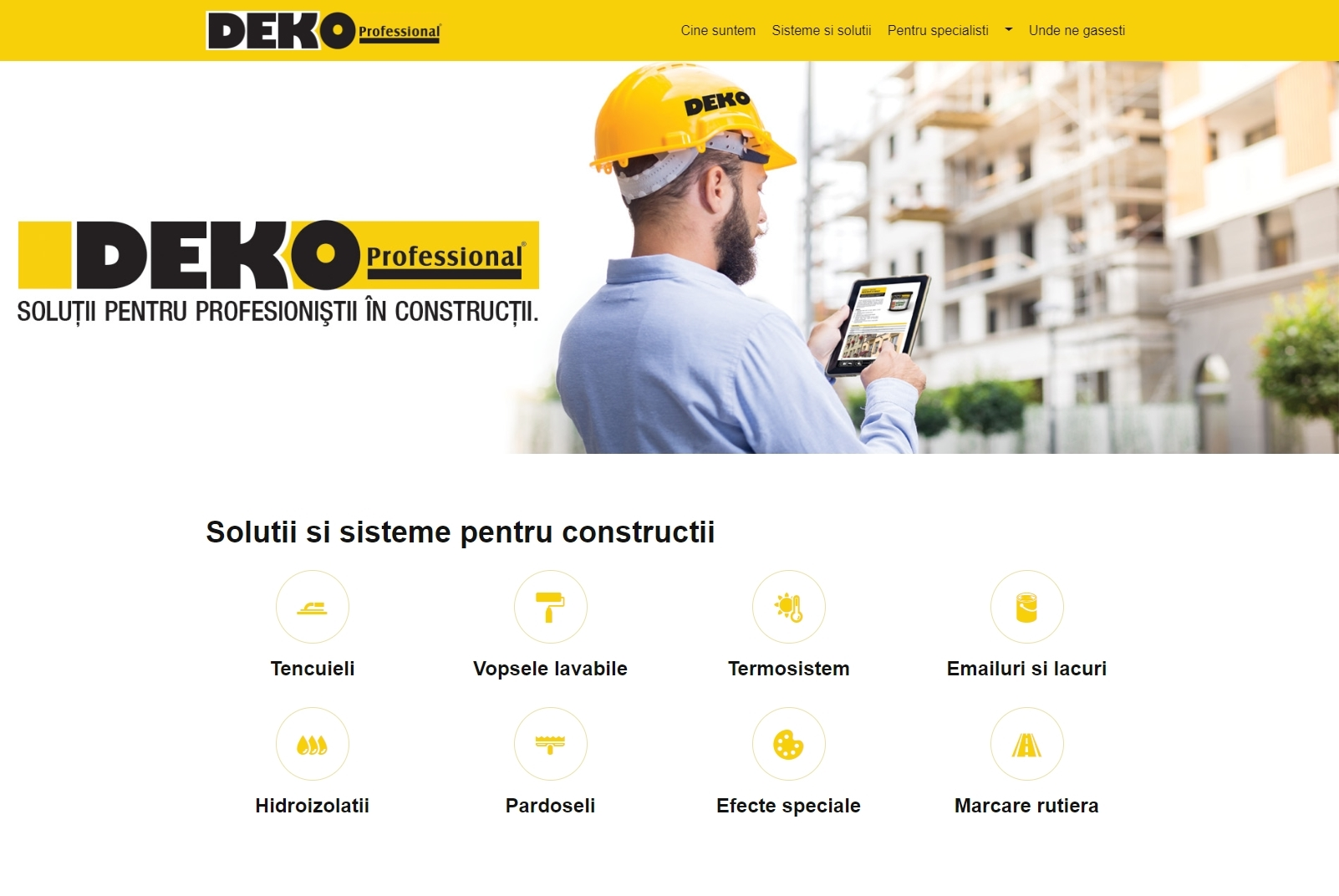 Noul website www.deko-professional.ro