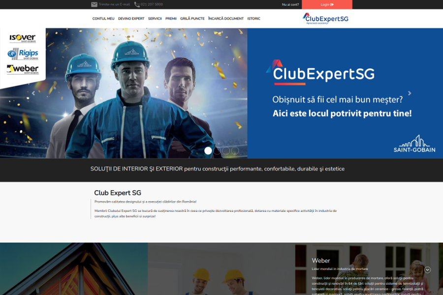 Noul website Club Expert Saint-Gobain