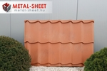 Noua tabla lina Metál-Sheet cu model Terracotta